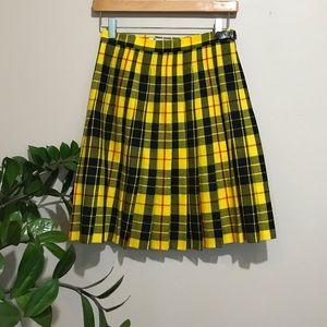Authentic Scottish Plaid Tartan Wool Skirt
